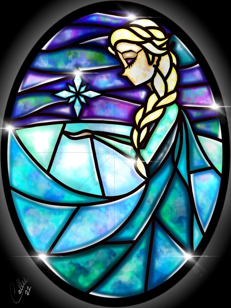 Costura DIY 5D resina diamante pintura punto de cruz diamante bordado nieve blanco, Elsa, Rapunzel, Pocahontas, Mulan, Ariel