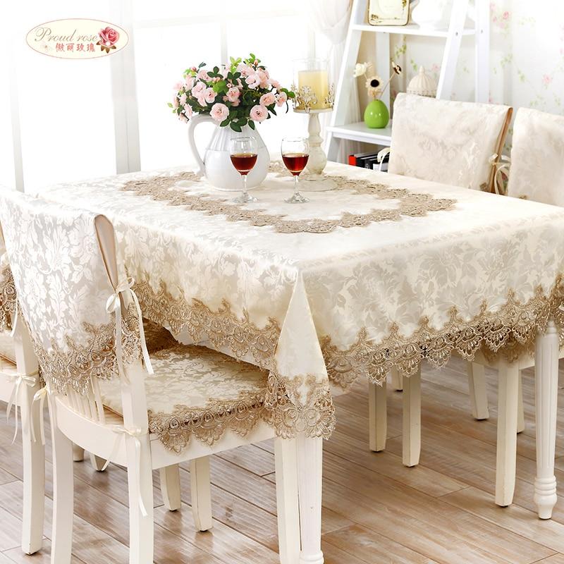 Orgulhoso rosa laço europeu mesa redonda pano de chá de alta qualidade toalha de mesa de toalha de cobertura corredores de mesa moderna decoração toalha de mesa