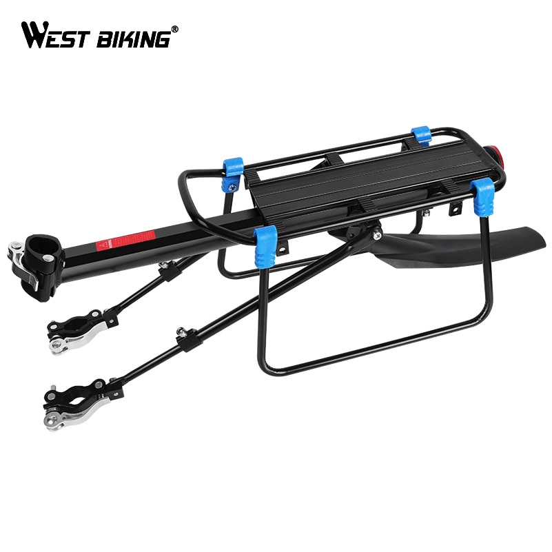 WEST BIKING MTB Bike Luggage Carrier Aluminum Bicycle Cargo Racks for 20-29 inch Shelf Cycling Seatpost Bag Holder Stand Rack