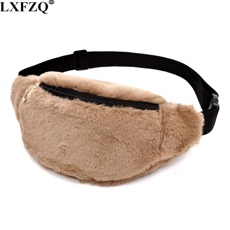2019 NEW Plush Sac Banane Waist Bag Fanny Pack Women Leg Bag Belt Pouch Waist Leg Bag Travel Wallet Money Belt Bolsas Feminina