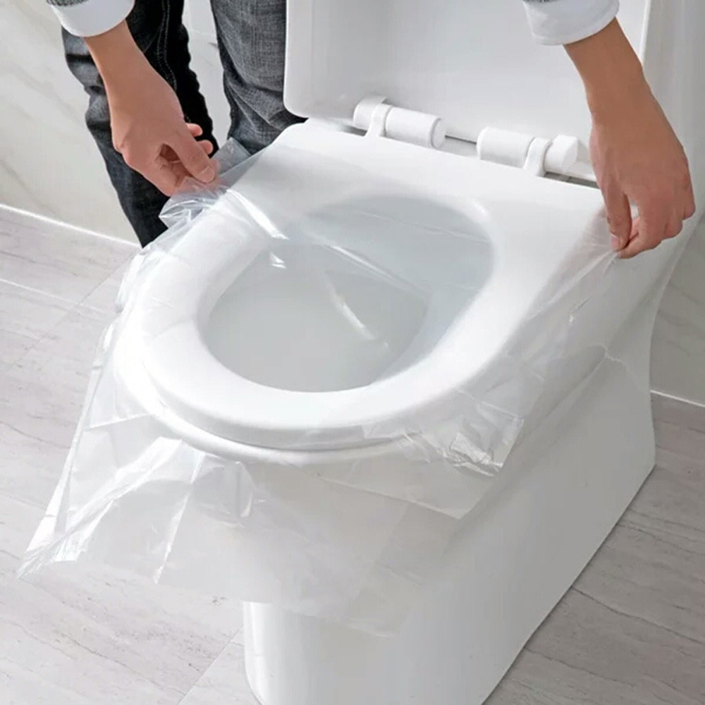 Практичные инструменты для ванной 50 шт. универсальные Одноразовые наклейки для унитаза чехлы для сидений для унитаза деловой дорожный табурет подушка для унитаза