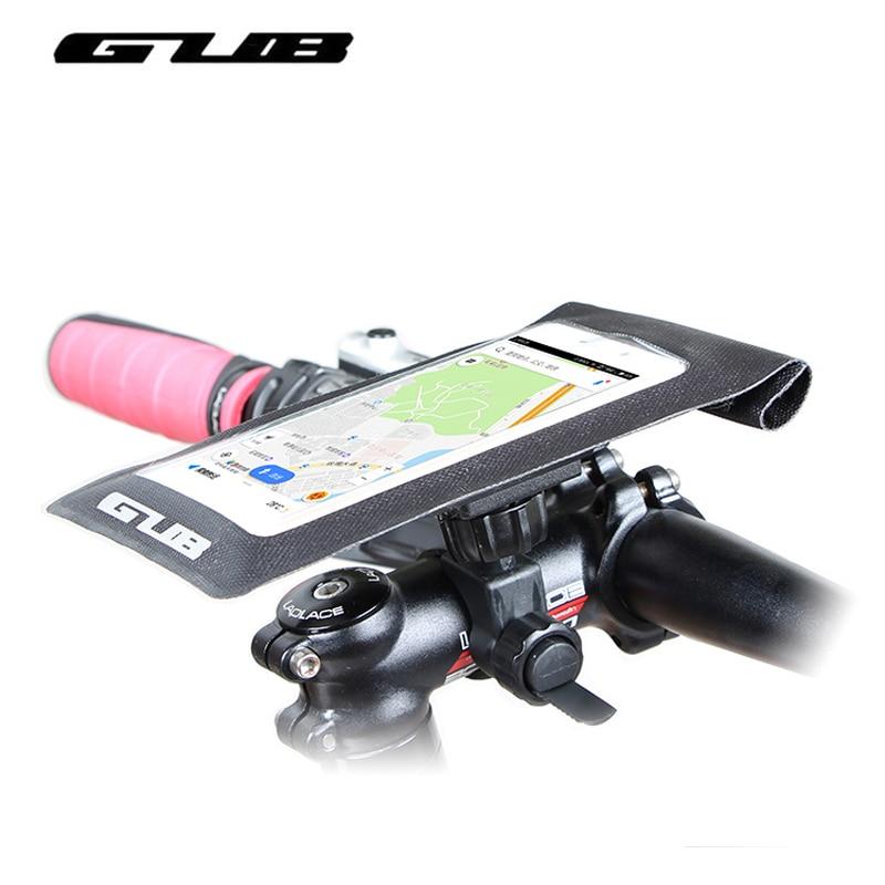 GUB pantalla táctil bolsa de teléfono de bicicleta impermeable MTB Road Bike Smart Phone Bag 6,0 pulgadas ciclismo manillar frontal Head Tube Pannier