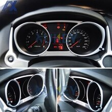 AX Per Mitsubishi ASX RVR Outlander Sport 2013-2017 2018 2019 Chrome Dashboard Cruscotto Gauge Copertura Trim Stampaggio lunetta