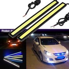 2 sztuk/partii ultra jasny 10W 17cm światła do jazdy dziennej 100% wodoodporna COB dzień światła LED samochodów DRL lampa do jazdy Car styling