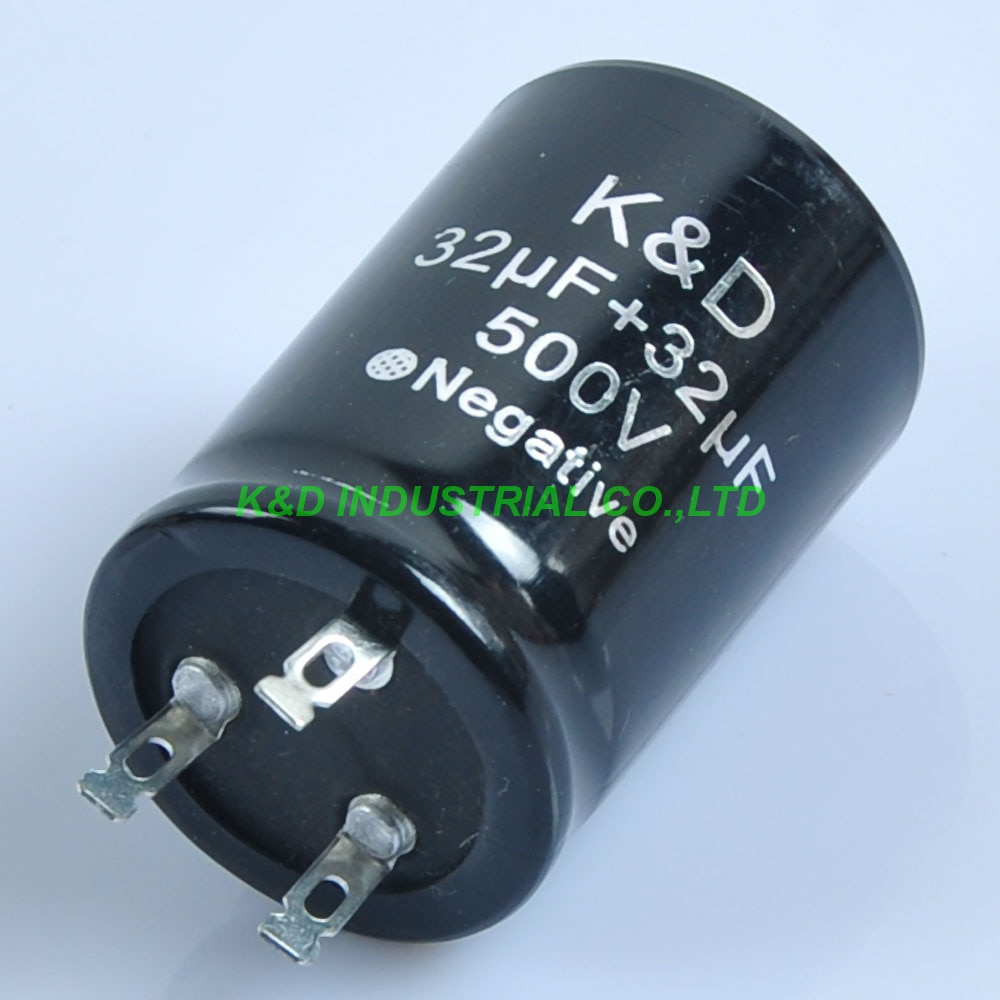 1 unidad 35*50mm condensador eelectrolítico 32 uf + 32 uf 500 V amplificador de guitarra