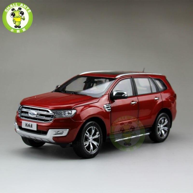 Escala 118 China Ford Everest SUV forma Ranger juguetes de modelo de coche rojo