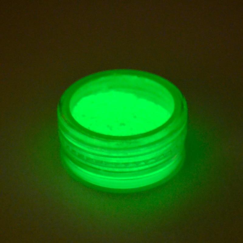 YWK 1 Box Optional Neon Phosphor Powder Nail Glitter Powder Dust Luminous Pigment Fluorescent Powder Glitters Glow In The Dark