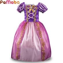 PaMaBa Elegante Abito Da Principessa per le Ragazze Rapunzel Cenerentola Cosplay Costume Per Bambini Party Dress-up Neve Bianco Bambini Palla abito