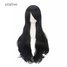 ccutoo 80cm/32inch 30 colors Curly Long Full Bangs Synthetic Hair Heat Resistance Fiber Cosplay Cost
