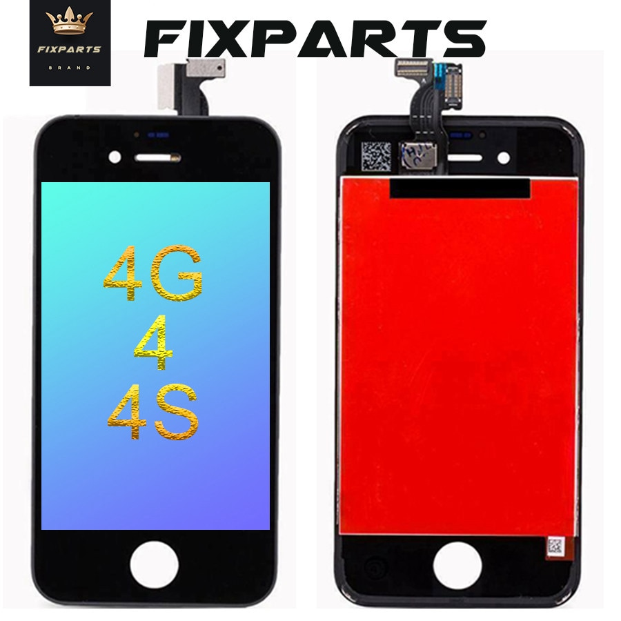 Get 10Pcs AAA OEM Display For iPhone 4 LCD Touch Screen Replacement Parts LCD For iPhone 4s Display Assembly 4 4S LCD Screen Black