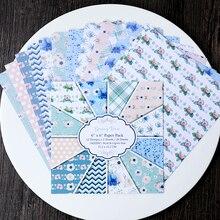 KLJUYP 12 Sheets Spring Time Scrapbooking Pads Paper Origami Art Background Paper Card Making DIY Scrapbook Paper Craft