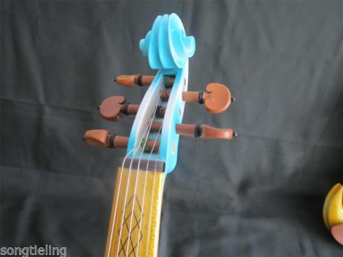 High quality blue color fancy Song art streamline 5 strings 4/4 electric violin enlarge