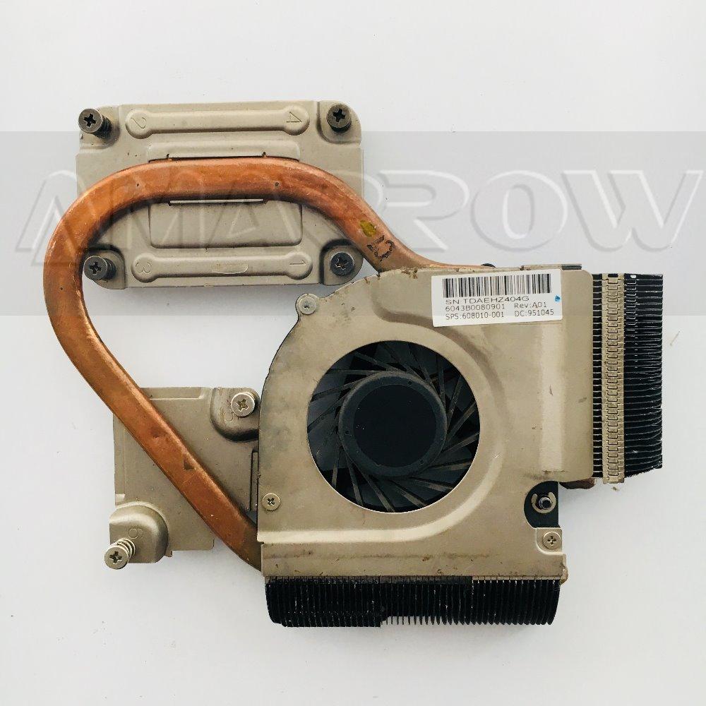 Original para HP G32 CQ32 DM4-1000 disipador térmico de refrigeración DV3-4000 con ventilador 601336-001 608010-001