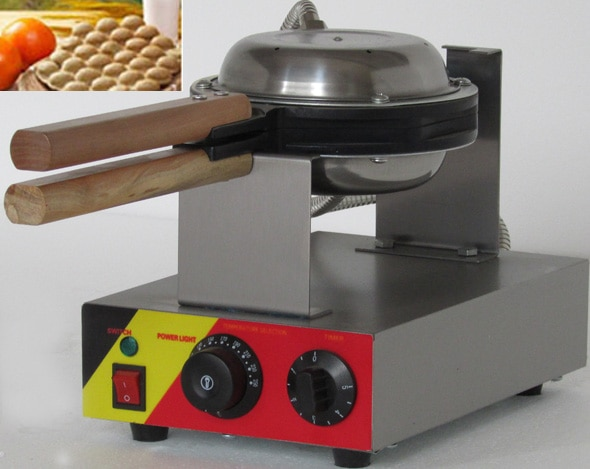 Eggettes eléctricos de acero inoxidable para hacer gofres de huevo girados 180 grados