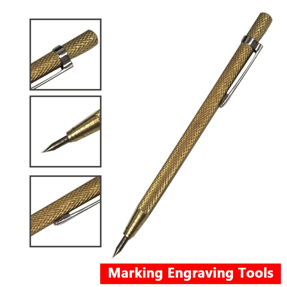 GOOD Tip Scriber Pen 1pc Diamond Metal Marking Engraving Pen Tungsten Carbide for Glass Ceramic Metal Wood Carving Hand Tools