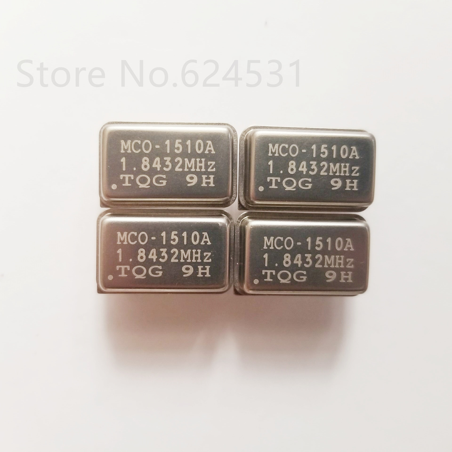 5pcs In-line active crystal OSC DIP-4 rectangular clock vibration full size 1.8432M 1.8432MHZ