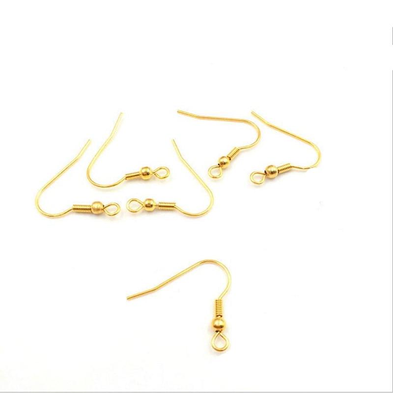 dawnjoe high quality 316l stainless steel v shaped earrings hook popular ear hooks diy making drop earrings jewelry finding 50pcs 316l Stainless Steel Earring Wire Hooks Ear Hook Clasp DIY Handmade Ear Jewelry Making Findings Z838