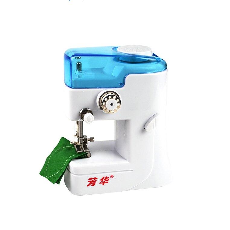 Mini máquina de coser, enhebrador de aguja automático, doble hilo eléctrico, máquina de coser, carretes de tejer para viaje