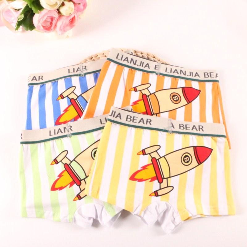 2 unids/lote Boxer para niños, ropa interior de algodón para niños ATNM3071