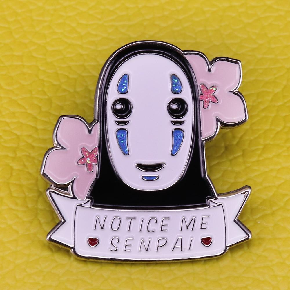 Эмалированный Pin Studio Ghibli, блестящий значок без лица