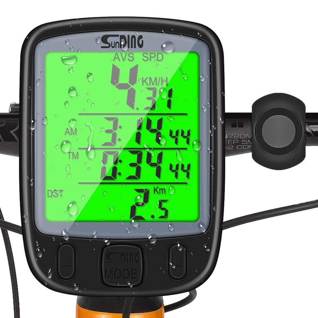 Medidor digital de velocidade da bicicleta, computador multifuncional, à prova dágua, sensores de esportivos, velocímetro