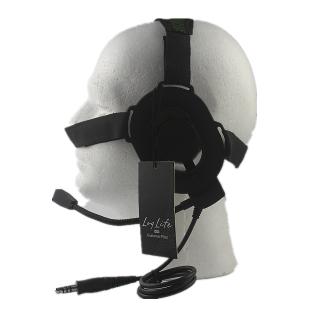 Auriculares Airsoft militares, equipo de auriculares, radio deportiva ELITE II, auriculares tácticos negros Tan FG AUS027