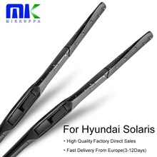 Mikkuppa balais dessuie-glace pour Hyundai   Balais dessuie-glace hybrides de pare-brise Solaris Fit à bras 2010 2011 2012 2013 2014 2015 2016
