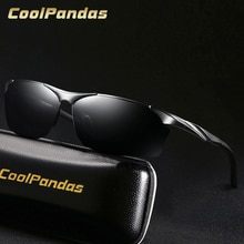 2019 Fashion men's aluminum-magnesium HD polarized sunglasses drivers night vision goggles anti-glare  Driving Sunglass Oculos
