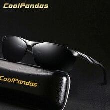 2020 mode hommes aluminium-magnésium polarisé lunettes de soleil pilotes vision nocturne lunettes anti-éblouissement conduite lunettes de soleil Oculos