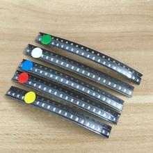 5สีx20pcs = 100ชิ้นSMD 0805 ledชุดสีแดง/สีเขียว/สีฟ้า/สีเหลือง/สีขาวLEDไดโอดแสงจัดส่งฟรี!ชุด