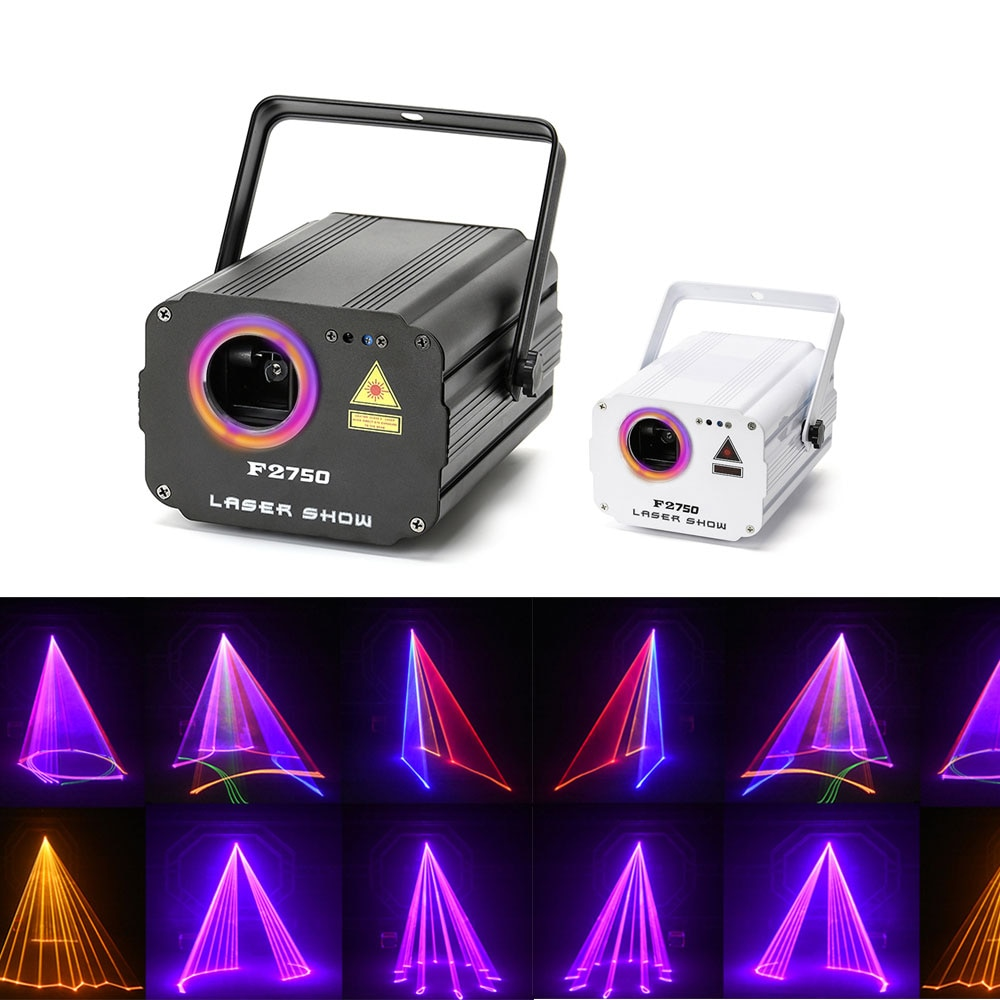 3D laser light RGB colorful DMX 512 Scanner Projector Party Xmas DJ Disco Show Lights club music equ