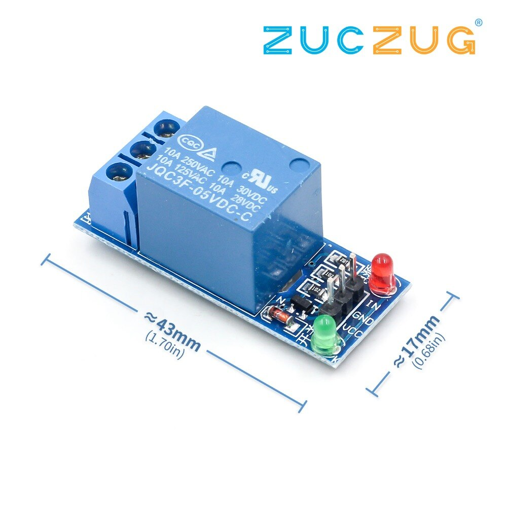 1PCS 5V 로우 레벨 트리거 1 개 1 채널 릴레이 모듈 인터페이스 보드 실드 PIC AVR DSP ARM MCU Arduino