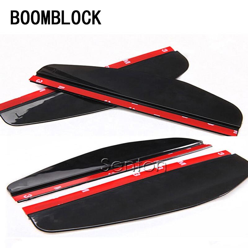 BOOMBLOCK 2x Rearview Mirror Rain Eyebrow For hyundai i30 ix35 solaris accent tucson 2017 KIA rio k2 3 ceed sportage Accessories