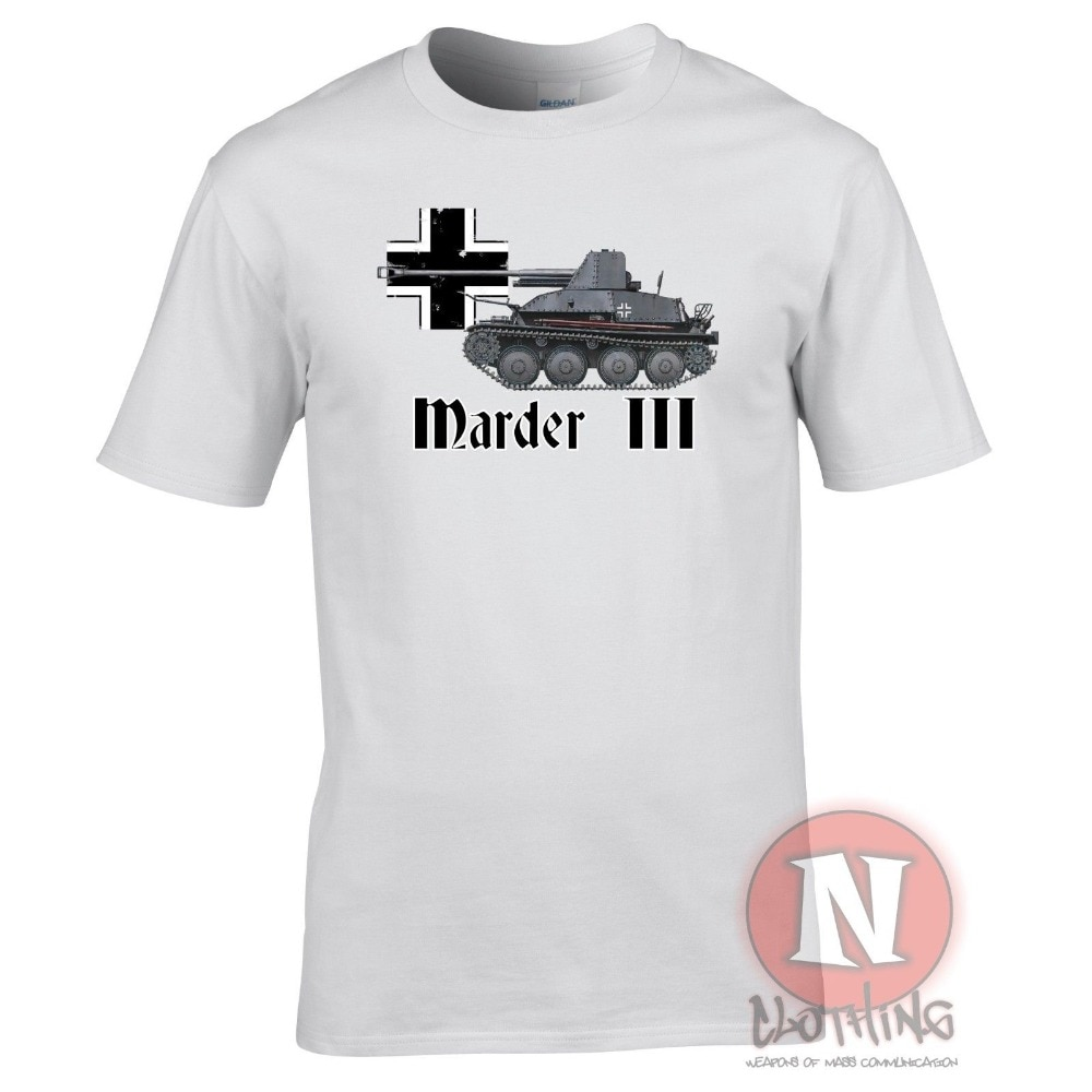 Marder 3 Spg Ww2 alemán militar camiseta de artillería tanques de World of War 2019 nuevos hombres tops de manga corta Camiseta diseño