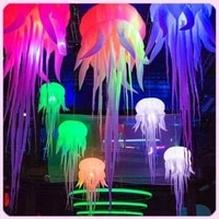 new fashion oxford inflatable jellyfish balloon with bright rgb led lights inflatable medusa for wedding stage decoration