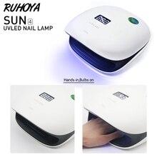 Ruhoya 48 W máquina de uñas de Gel uñas secas Invisible Auto-detección de inducción infrarroja curado Luz de uñas arte máquinas herramientas 110 V-240 V