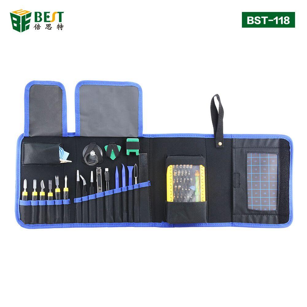 Juego de destornilladores de precisión BST-118 67 en 1 Kit de controlador magnético con bolsa portátil para iPhone 8 8 Plus, consola de juegos para teléfono móvil