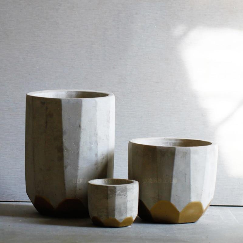 concrete planter mold Succulent plants flower pots silicone mold Three designs concrete pot molds