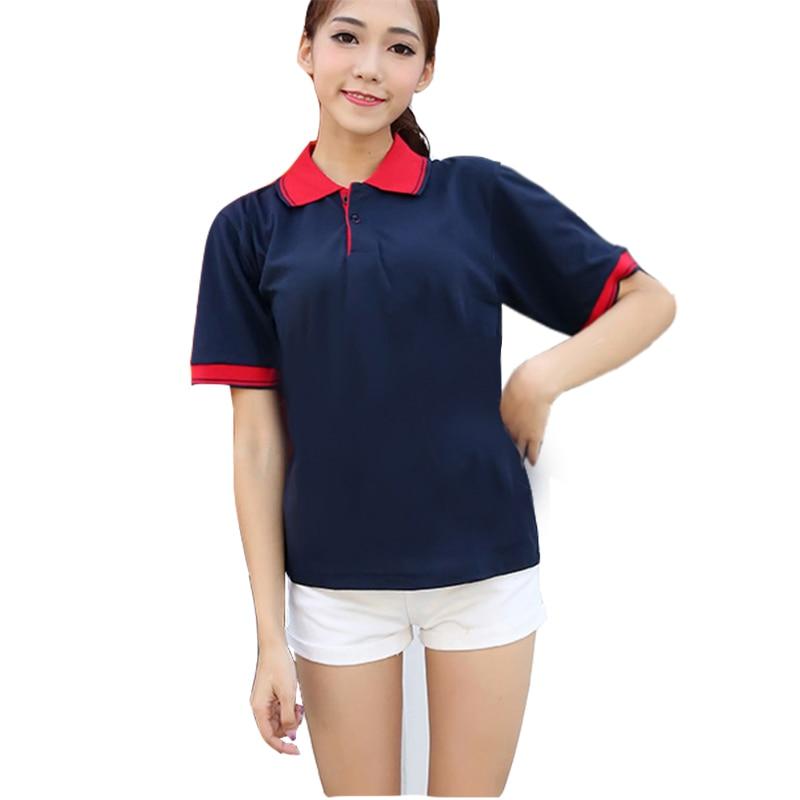 Novedad en Polos de mujer, camiseta informal transpirable, Polo de manga corta de verano para mujer, Polos de talla grande de algodón con retazos para mujer