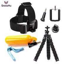 SnowHu pour Xiaomi pour Yi 4K accessoires Kit sangle de tête monopode pour Gopro Hero 8 7 6 5 4 pour SJCAM pour SJ4000 pour Eken H9R GS63