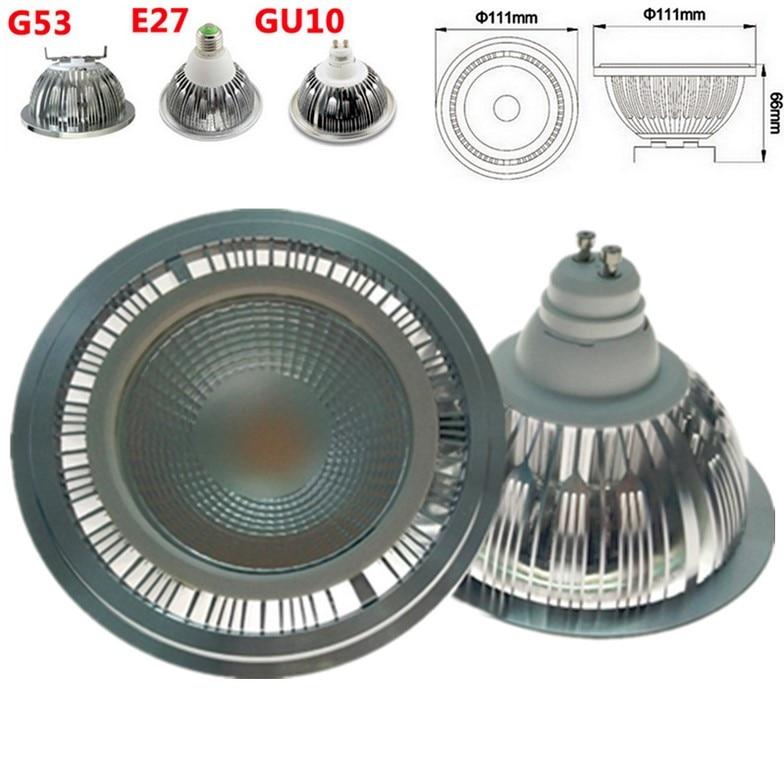 Faretti-Lámpara led de techo, foco led cob ar111, regulable, 9W, gu10, gu53,...