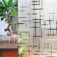 60*200 cm Kreuz muster Decoratived Opaque Matt Fenster Filme Vinyl Static Cling Self adhesive Privatsphäre Glas Aufkleber