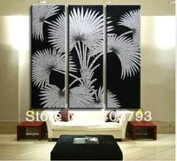 siliver rich tree paintings huge 3 panels handmade modern oil painting on canvas wall art free shipping
