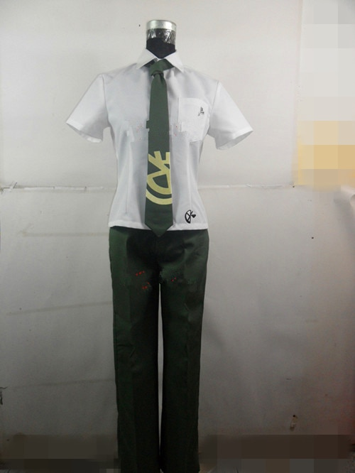 Super Danganronpa 2 Hajime Hinata uniforme masculino abrigo camisa pantalones Anime Halloween juego Cosplay disfraces para hombres hecho a medida