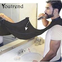 Pongee-tablier soins pour la barbe   Bavoir tondeuse, Cape cheveux du visage, évier noir blanc rasage, outil propre de nettoyage ménager, Protection