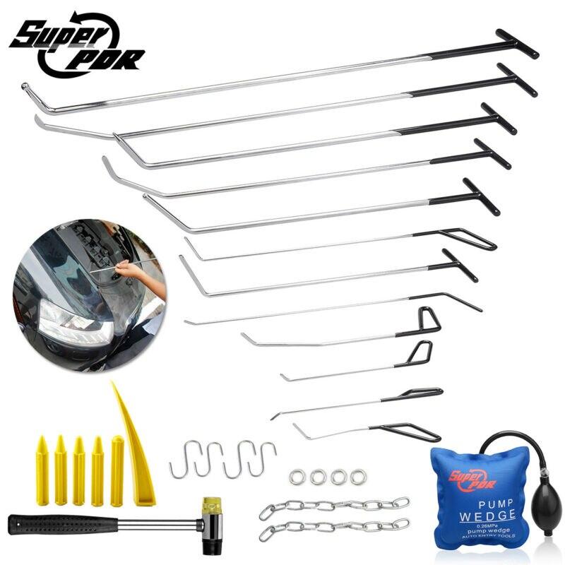 Outils de retrait de Dent de barres déquipage de PDR 12 pc outils de réparation de Dent de cale de pompe à marteau en caoutchouc de tige de poussée