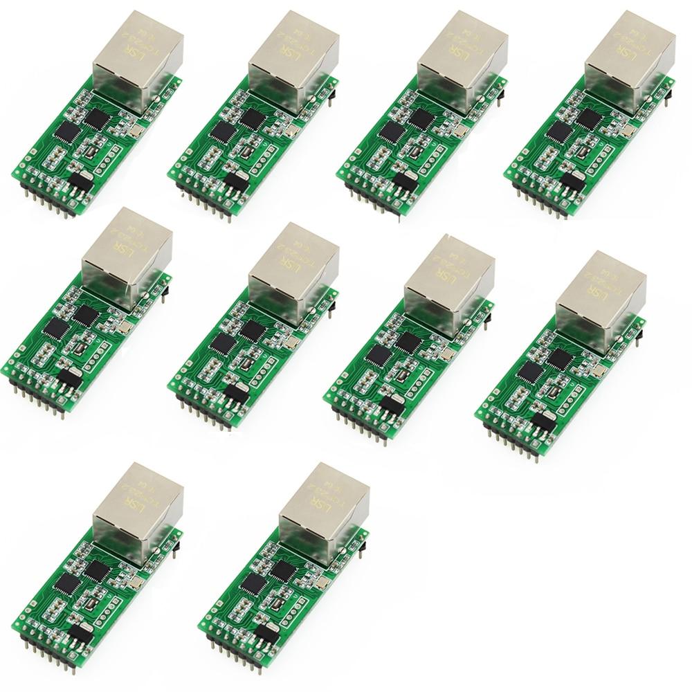 Q18042-10 10 шт. USR-TCP232-T2 миниатюрный последовательный интерфейс Ethernet конвертер Модуль протокол УАПП ttl для ethernet-модуля TCPIP