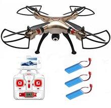 EBOYU (TM) Syma X8HW + 2 pièces 2000 mAh batterie 4 canaux 6 axes Gyro 360 degrés 3D Wifi FPV RC Drone RTF quadrirotor