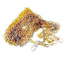 Poignée de rechange chaîne métallique 120cm   Pour sacs à bandoulière, sac à main à poignée porté croisé, bricolage sac sangle accessoires matériel