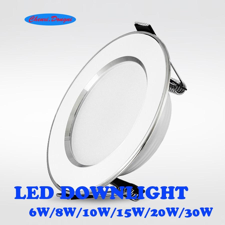 Led Downlights 10pcs/lot 6W 8W 10W 15W 20W 30W 220V LED Ceiling Downlight 2835 Lamps Led Ceiling Lamp Home Indoor Lighting